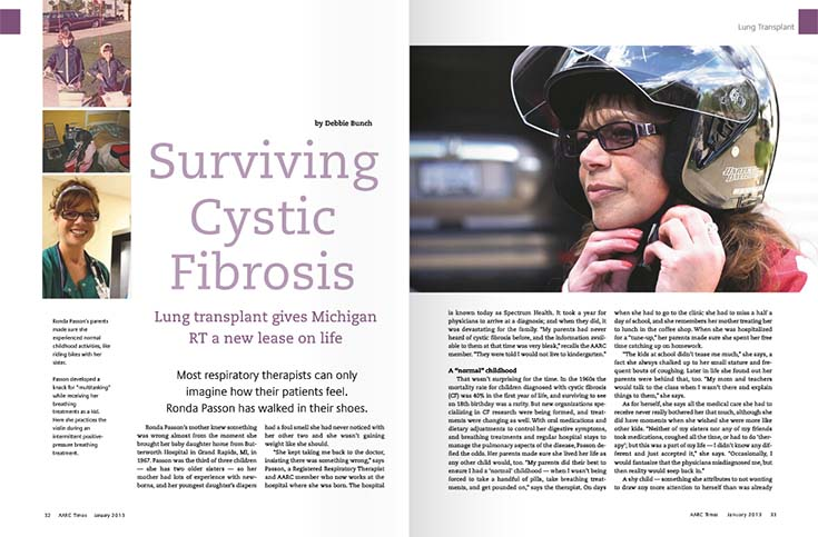 Ronda Passon Living with Cystic Fibrosis