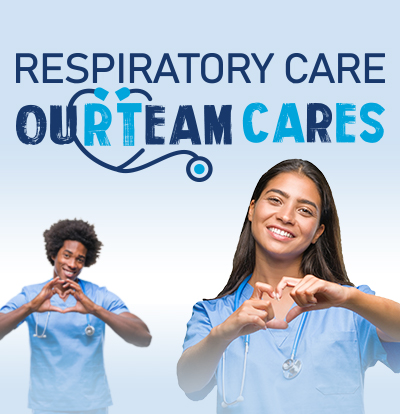small logo for respiratory care our team cares
