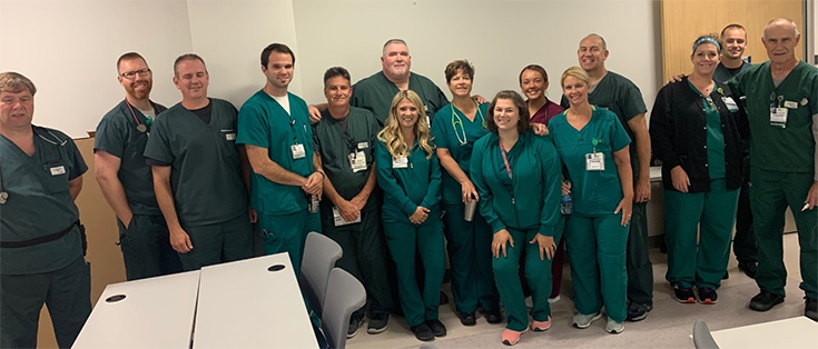 photo of the Winchester Medical Center respiratory therapy team